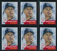 2018 Topps Living Set Giancarlo Stanton 6 Card Lot #58 New York Yankees