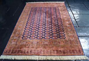 Vibrant Vintage Rug Carpet Wool
