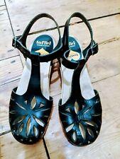 Toffel Swedish Hasbeens black Leather Clog Sandals Size EU 37 / UK 4