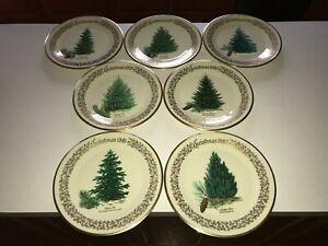 Set of 7 Lenox Christmas Tree Annual Plates 1976-1982