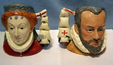 ** Perfect PAIR - ROYAL DOULTON Character JUGS - King Philip & Queen Elizabeth