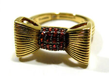 Dweck Diamonds Vanessa 14K Gold Clad Sterling 1/3 cttw Red Sapphire Bow Ring