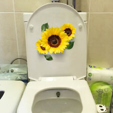 3D Realistic Sunflower Toilet Seat Fridge Decal Yellow Flower Modern Home Decor