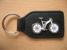Schlüsselanhänger E-Bike Elektro Fahrrad Bike Mountainbike weiss Art 1169 Keyfob