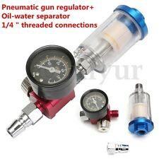 Scratch Doctor Spray Gun Air Regulator Gauge & In-line Water Trap Filter Tool
