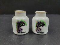 "New Orleans Lousiana Small Vintage Ceramic 2"" Salt & Pepper Shakers"
