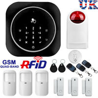 Wireless Security GSM RFID Smart Home Office Intruder Burglar Fire Alarm System