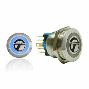 Billet Button :: Blue Illumination