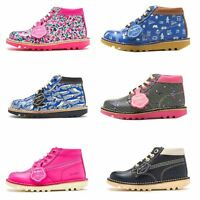 Kickers for Joules Special Edition Kick Hi Berry Jumble, Happy Camper Kids Boots