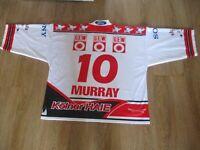 "Kölner Haie ""KEC"" Russell Athletic Eishockey Trikot 1999/00 + Nr.10 Murray Gr.XL"