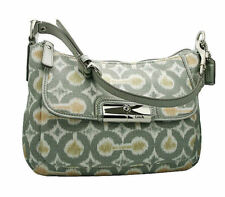NWOT Coach Kristin Ikat Op Art Top Handle Pouch in Grey Multi #45593