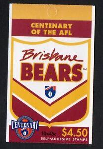 Australia Post Stamp Booklet Centenary of AFL Brisbane Bears Booklet 1996