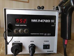 HAKKO 472D DESOLDERING IRON WITH DESOLDERING TOOL, 120V~, 110W, 60Hz!