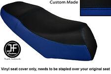 BLACK & ROYAL BLUE VINYL CUSTOM FITS LEXMOTO GLADIATOR 125 DUAL SEAT COVER ONLY
