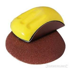 Sanding Block 150 x 85mm Ergonomic foam block, Inc 3 discs 40, 120 and 240 grit