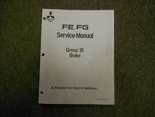 1992 MITSUBISHI FE FG Group 35 Brake Service Repair Shop Manual FACTORY OEM 92