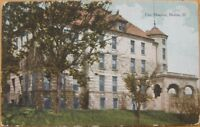 1912 Postcard - City Hospital - Moline, Illinois Ill IL