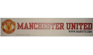 2X CLEAR MANCHESTER UNITED FOOTBALL CLUB CAR WINDOW STICKER MAN UTD GREAT GIFT