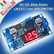 Convertitore DC-DC step up 4V-35V 2,5A LM2577 + display alimentatore regolabile
