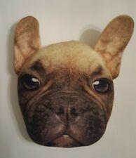 French Bulldog Head Plush Pillow Face