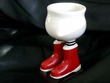 Carlton Ware Lustre pottery walking ware Red wellington boots Eggcup 1978