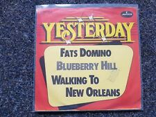 "Fats Domino-Blueberry Hill/Walking to New Orleans 7"" single GERMANY"