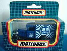 MATCHBOX MB38 - FORD MODEL A VAN - SILVO - NEW IN UNOPENED BLUE GRID BOX
