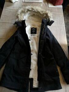 Womans Black Holister Parka Jacket  Size S
