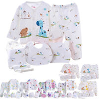 Gifts For Newborn Baby Boys Girls Toddler Unisex Cute Clothing Set Sleepsuit 5PC