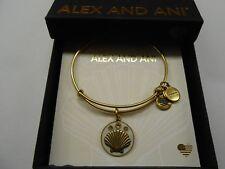 Alex and Ani Shell III Bangle Bracelet, Color Infusion, Rafaelian Gold NWTBC