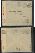 Palestine  censor cover to Egypt    red censor tape  1940     MS0216