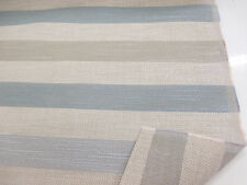 "Beige & Teal ""Belgian Soft Twill stripe Teal"" Heavy Upholstery Fabric. By NEXT"