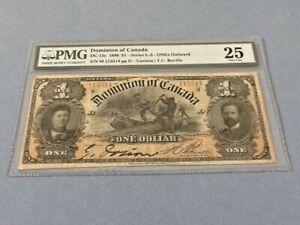 Canada, Dominion of Canada 1 Dollar DC-13c 1898  PMG 25
