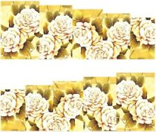 Nail Art Stickers Transfers Decals Cream Roses (A-104)