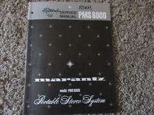 New listing Marantz Pms6000 Portable Stereo Original Service Repair Manual