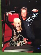 Blake Shelton And Dolly Parton 8 X 10 Color Autographed Photo Reprint