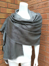 "MICHAEL KORS DOUBLE FACE SILVER/PLATINUM ALL OVER ""MK"" LOGO SCARF/WRAP BNWT"