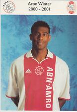 AUTOGRAMMKARTE / AUTOGRAPHCARD 2000-2001 Aaron Winter Ajax Amsterdam