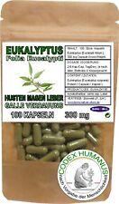 100 Kapseln 300 mg Eukalyptus. HUSTEN ATEMWEGE VERDAUUNG MAGEN GALLE LEBER