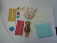 Vintage Amanda Jane Playroom Doll and Furniture Collectors Toy Brownie Outfit