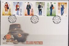 GB - Isle of Man 2001 Island Postmen's Uniforms/Letter Carriers SG929/34 FDC