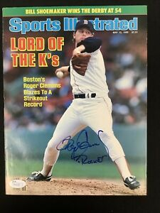 Roger Clemens Signed Sports Illustrated 5/12/86 No Label Baseball Auto CY JSA