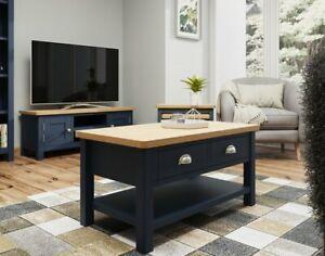 Oak City - Dorset Painted Blue Oak Large Coffee Table