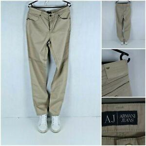 ARMANI JEANS Vintage Mens Beige Slim Straight Denim Trousers Jeans SIZE W33 L34