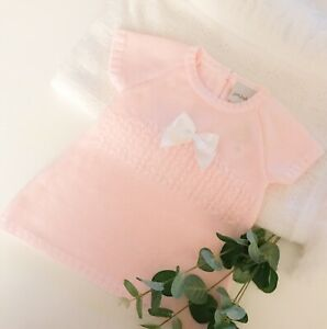 Dandelion Traditional Spanish Baby Girls Knitted Pink Dress