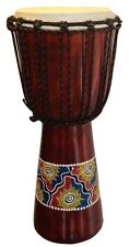 Hand Painted 50cm Djembe Drum World Music Percussion Quality Bongo Goat Hide