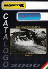 PROGETTOK CATALOGUE 2000 MINIATURE 1/43 - CATALOGO AUTOMODELLI - MODEL CARS EXEM