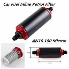 Black Aluminum AN10 100 Micron High Flow Fuel Inline Petrol Filter For Car Truck