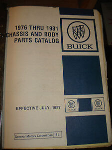 1976-1981 BUICK PARTS BOOK RARE GM CATALOG SKYLARK REGAL AND MORE! TEXT & ILLUS