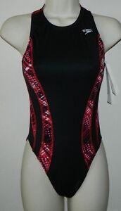 New Women Speedo Performance Endurance Multi-Color Swimsuit One-Piece 28